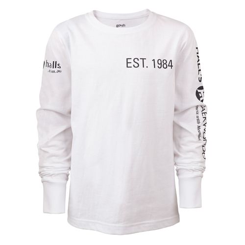 White Long Sleeve Kids Front